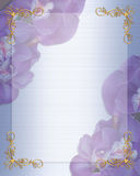 Orchids Wedding invitation border Royalty Free Stock Photography