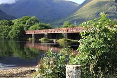 Orchy Viaduct bridge in the Loch Awe, Argyll, highlands of Scotland. Orchy Viaduct bridge in the Loch Awe, Argyll in highlands of Scotland Stock Images