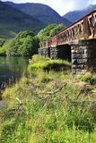 Orchy Viaduct bridge in the Loch Awe, Argyll, highlands of Scotland. Orchy Viaduct bridge in the Loch Awe, Argyll in highlands of Scotland Royalty Free Stock Images