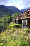 Orchy Viaduct bridge in the Loch Awe, Argyll, highlands of Scotland. Orchy Viaduct bridge in the Loch Awe, Argyll in highlands of Scotland Royalty Free Stock Photos