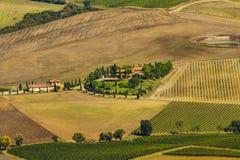 ` Orcia de Val d, Toscânia, Itália Fotografia de Stock Royalty Free