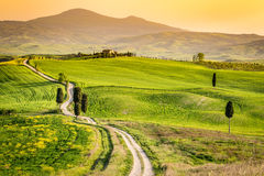 ` Orcia, Toskana, Italien Val d Stockbilder