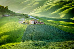 ` Orcia, Toskana, Italien Val d lizenzfreie stockfotos