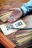 Oráculo antiguo de i ching Imágenes de archivo libres de regalías
