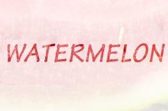 Ord av en vattenmelon Arkivfoton