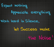 Ord av motivationen Royaltyfria Bilder