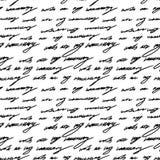 Ord för bokstäver för grunge för modell för handskriftbakgrund sömlösa royaltyfri illustrationer