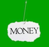 ord för fiskekrokpengar Arkivbild