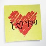ord för hjärtaförälskelsesymbol dig Royaltyfri Fotografi