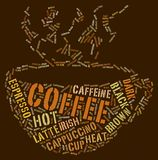 ord för kaffekopp Arkivbild
