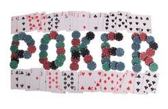 Ord för kasino två arkivbilder