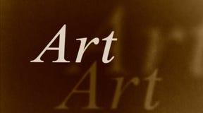 ord för konstpapper Arkivfoto
