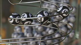 Ord för MÖJLIGHET för lottobollsmink Realistisk animering 3D vektor illustrationer