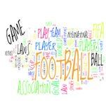 ord för oklarhetsfotbollfotboll Royaltyfri Bild