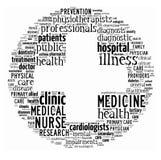 ord för omsorgscollagehälsa Royaltyfri Bild
