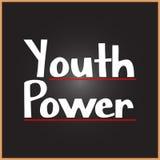 Ord för ungdommakt på utbildnings-, inspiration- och motivationbegrepp royaltyfri illustrationer