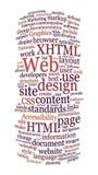 ord för website för oklarhetsdesignrengöringsduk Arkivbild