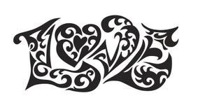 ord för logoförälskelsetatoo Royaltyfria Foton