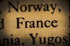 Ord Frankrike Royaltyfri Bild
