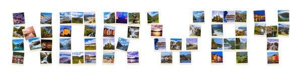 Ord Norge som göras av loppskott (mina foto) Royaltyfri Foto