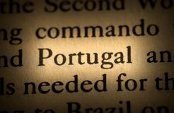 Ord Portugal Royaltyfri Fotografi