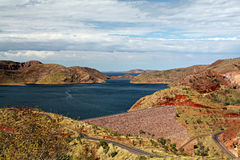 Ord River Dam, Lake Argyle Stock Image