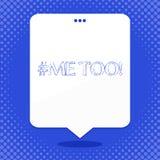 Ord som för skriver text Hashtagme Affärsidé för Grow som är stark och som är modig nog att anmäla missbruk, mobbning, anfall royaltyfri illustrationer
