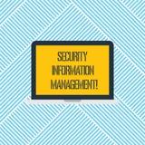 Ord som skriver ledning för information om textsäkerhet Affärsidé för att samla och analysering av säkerhetsdatajournaler royaltyfri illustrationer
