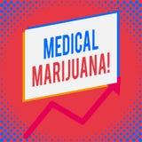 Ord som skriver text medicinsk marijuana Affärsidé för rekommenderat, genom att undersöka som behandling av ett medicinskt villko vektor illustrationer