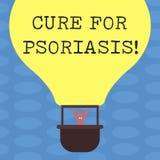 Ord som skriver textbot för psoriasis Affärsidé för använda bara krämer och salvor som applicerar hudHu analys stock illustrationer