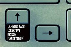 Ord som skriver textlandningsida idérik designmarknadsföring Affärsidé för Homepage som annonserar socialt massmedia royaltyfri fotografi