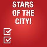 Ord som skriver textstjärnor av staden Affärsidéen för att moussera natt i stadsbriljanten exponerade mellanrumet vektor illustrationer