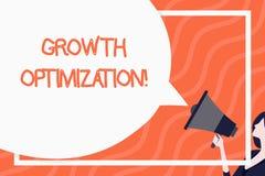 Ord som skriver texttillv?xtOptimization Affärsidé för att finna ett alternativ med den mest kostnaden - effektivt enormt stock illustrationer