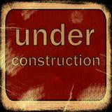 Ord UNDER konstruktion Royaltyfria Bilder