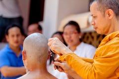 Ordaining man to be monk Royalty Free Stock Photos