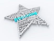 Ordbegrepp för coachning 3d Arkivbild