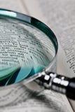 ordbokförstoringsapparat Arkivbilder