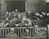 Orde in het hof royalty-vrije stock afbeeldingen