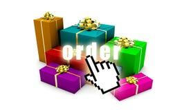 Orde online Stock Foto's