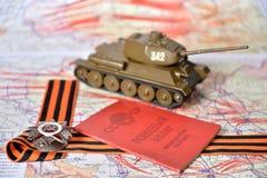 Orde van de Patriottische Oorlog in St George boog, Sovjetmilit Stock Foto's
