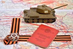 Orde van de Patriottische Oorlog in St George boog, Sovjetmilit Stock Afbeeldingen