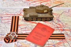 Orde van de Patriottische Oorlog in St George boog, Sovjetmilit Royalty-vrije Stock Foto