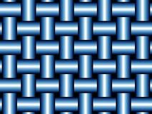 Ordelijk blauw weefsel Stock Foto's