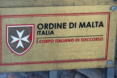 Ordem militar soberana de Malta fotos de stock royalty free