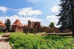 A ordem teutonic de Torun knights o castelo fotografia de stock royalty free