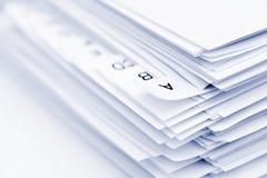 Orden alfabético fotos de archivo libres de regalías