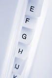 Orden alfabético imagenes de archivo