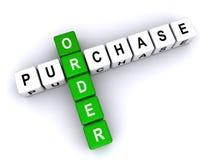 Orden de compra Fotos de archivo