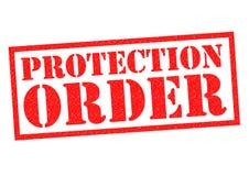 ORDEN DE LA PROTECCIÓN stock de ilustración