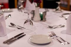 Orden de la tabla en un restaurante foto de archivo libre de regalías